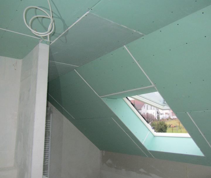 Decke Aus Gipskartonplatten. Leichtbau Rickenbacher Gmbh